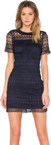 Lucy Paris Embroidered Overlay Dress