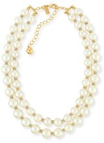 Kate Spade Pearly Two-Strand Necklace, Cream