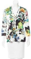 Roberto Cavalli Embellished Floral Print Top