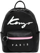 Kenzo Essentials Canvas & Leather Backpack