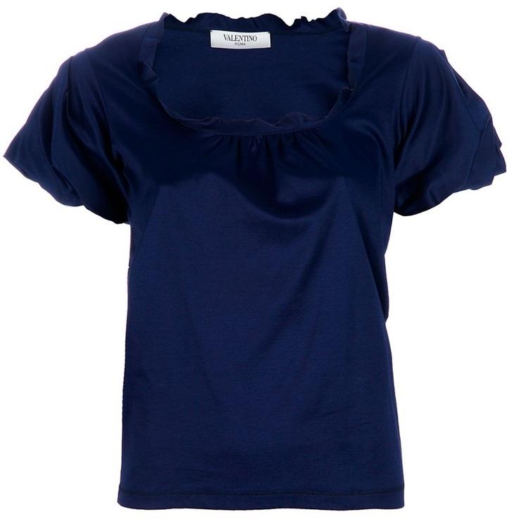 Valentino Roma Puff sleeeve tshirt