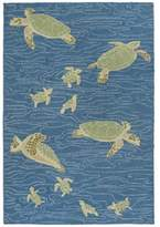 Liora Manné Sea Turtles 9-Foot x 12-Foot Area Rug in Blue
