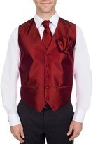 Buy Your Ties Men's Elegant Designer Formal Vest Necktie and Hanky Set