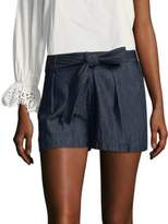 Joie Pike Chambray Tie-Waist Shorts