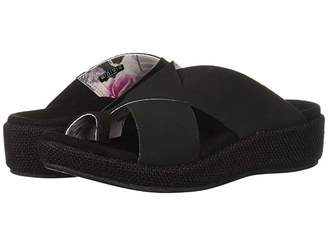 Spenco Oasis Slide (Black) Women's Sandals
