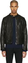 Belstaff Black Leather Maxford Jacket