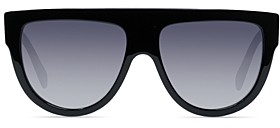 Celine Unisex Polarized Flat Top Aviator Sunglasses, 60mm