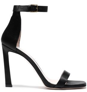 Stuart Weitzman Cutout Satin Sandals