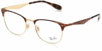 Ray-Ban Unisex's Rx6346 Square Metal Eyeglass Frames Prescription Eyewear
