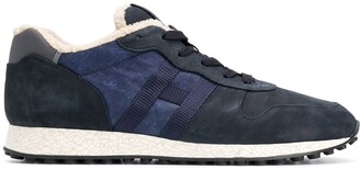 Hogan colour block lined sneakers