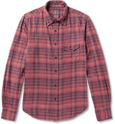 SAVE KHAKI UNITED Checked Cotton-flannel Shirt - Brick