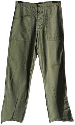 RtA Green Cotton Jeans for Women