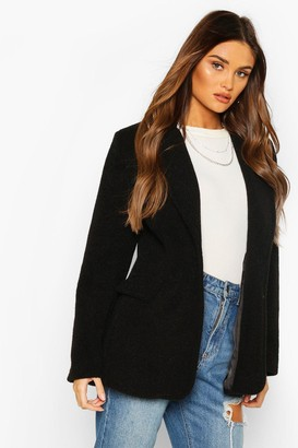 boohoo Luxe Brushed Wool Look Oversized Blazer Coat