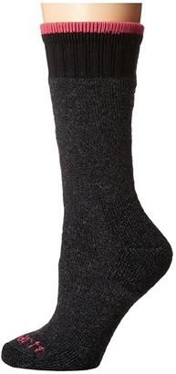 Carhartt Heavyweight Merino Wool Blend Boot Sock (Charcoal) Women's Crew Cut Socks Shoes