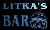 AdvPro Name w065975-b LITKA Name Home Bar Pub Beer Mugs Cheers Neon Light Sign