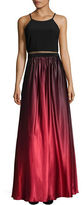 Betsy & Adam Ombre Contrast Gown