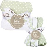 Trend Lab Sea Foam 6 Piece Dot Hooded Towel and Wash Cloth Set