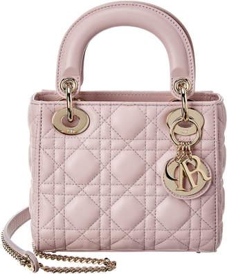 Christian Dior Mini Lady Cannage Quilted Leather Tote
