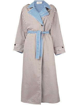 Ports 1961 contrast check trench coat