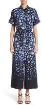 Lela Rose Women's Floral Print Wide Leg Jumpsuit