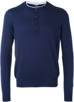 Malo contrast trim sweater - men - Cotton/Cashmere - 46