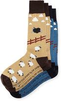 Per Pedes Two-Pair Baa Baa Bad Sheep Sock Set