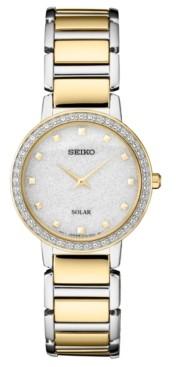 Seiko Women's Solar Two-Tone Stainless Steel Bracelet Watch 30.3mm