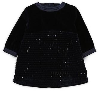 HUGO BOSS Baby Girl's Little Girl's Sequin Velvet Dress