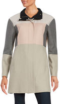 Ivanka Trump Colorblocked Zip-Front Coat