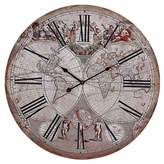 Lazy Susan 24 in. Beige Wall Clock
