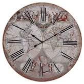 "Lazy Susan 24"" Map Wall Clock Beige ;"