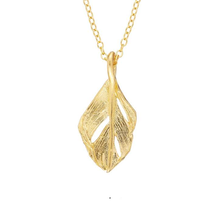 Fly London Chupi - I Can Midi Swan Feather Necklace in Gold