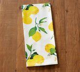Pottery Barn Painted Lemon Tea Towel