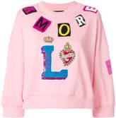 Dolce & Gabbana patch-work sweater