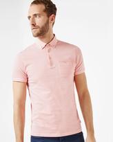 Geo Print Cotton Polo Shirt
