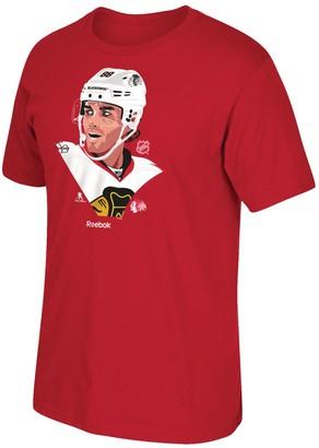Reebok Men's Patrick Kane Red Chicago Blackhawks Front Player Graphic T-Shirt