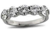 Zales 2-1/2 CT. T.W. Diamond Five Stone Wedding Band in Platinum (H/SI1)