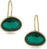 Lauren Ralph Lauren Lauren Treasure Trove Green Stone and 12K Gold-Plated Drop Pierced Earrings