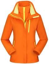 Lanbaosi Outdoor Waterproof Snowboarding Jacket Women's Hooded Fleece Ski Jacket