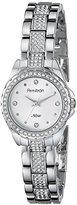 Swarovski Armitron Women's 75/5250SVSV Crystal-Accented Silver-Tone Bracelet Watch