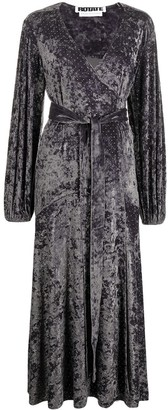 Rotate by Birger Christensen Long-Sleeve Wrap Dress