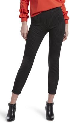 Hue Classic Pinstripe Print Pants (Plus Size)