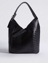 Marks and Spencer Faux Leather Ring Detail Hobo Bag