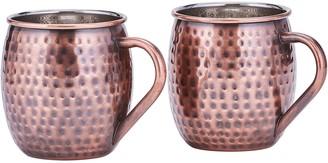 Old Dutch International Old Dutch Hammered Copper Moscow Mule Mugs, Setof 2