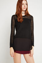 BCBGeneration Mixed-Media Sweater - Black