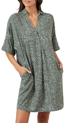 French Connection Animal Print Pullover Dress
