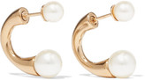 Chloé Darcey Gold-tone Swarovski Pearl Earrings - one size