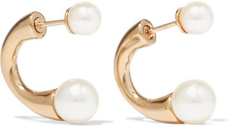 Darcey Gold-tone Swarovski Pearl Earrings