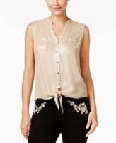 Thalia Sodi Tie-Front Blouse, Only at Macy's