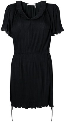 See by Chloe Scoop Neck Pleated Dress